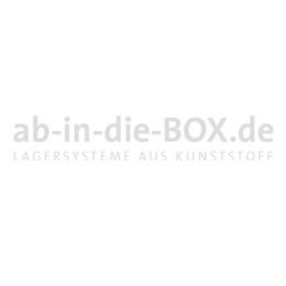 Rollerständer mit 15 offene roten Standard Transportrollern mit 4 Gummilenkrollen RS64-15-00-B-TO64-GL-01-20